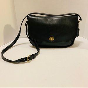 Vintage Coach City Black Crossbody Bag Purse